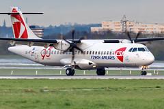 OK-MFT Czech Airlines (CSA) Aerospatiale ATR-72-212A (buchroeder.paul) Tags: eddl dus dusseldorf international airport germany europe ground dusk okmft czech airlines csa aerospatiale atr72212a