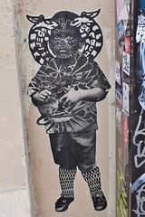 StinkFish_5294 rue Viollet le Duc Paris 09 (meuh1246) Tags: streetart paris stinkfish rueviolletleduc paris09 enfant animaux rat