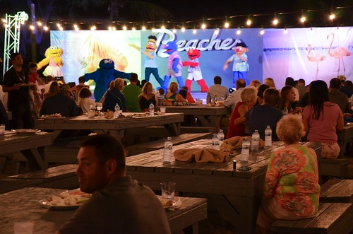 Sesame Street Characters Dancing At The Friday Night Beach Party