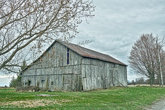 Lean On Me (gabi-h) Tags: barn trees spring rural rustic green road grass gabih princeedwardcounty old architecture rustyroof