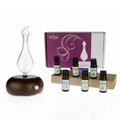 Aromatherapy Kit - Diffuser, choice of 3 or 6 oils and cleaning kit (armisdiffuser) Tags: aromatherapykits giftkits giftsetsdiffuser oils cleaning nebulizer glass essential diffuserschoice