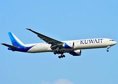 9K-AOJ Kuwait Airways Boeing 777-300 (65th years Sticker) (czerwonyr) Tags: 9kaoj kuwait airways boeing 777300 fra eddf 65