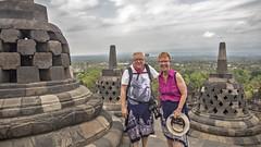 Borubudur (Hans van der Boom) Tags: vacation holiday asia indonesia indonesië java people marjon hans me self borubudur id