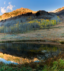 I learn something every time I go into the mountains… (ferpectshotz) Tags: colorado colorful maroonbells mountains fall autumn fallfoliage roadtrip cold morning sunrise goldenhour landscape panorama vertical