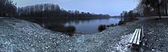 Pause enneigée (LonánWL) Tags: snow park landscape lake pond outdoor trees tree bench neige parc paysage étang lac arbre arbres banc