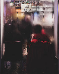 a short story about the bottles in the bar (ignacy50.pl) Tags: reportage colorful window glass bar indoor fog people restaurant abstract streetphotography