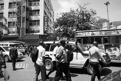 The Urban Transport Collection (JeepChic) Tags: streetphotography urbanlife policeman city citylife kenya africa transportation blackandwhite people