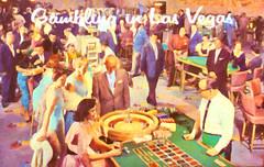 Gambling in Las Vegas (Thomas Hawk) Tags: america gamblinginlasvegas lasvegas nevada usa unitedstates unitedstatesofamerica vegas vintage postcard fav10