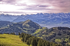 Look into the distance (Zoom58.9) Tags: sky clouds mountains trees grasses landscape nature europe switzerland graubünden himmel wolken berge bäume gräser landschaft natur europa schweiz fernsicht canon eos 50d