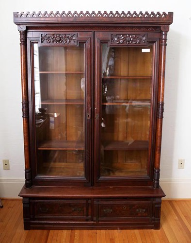 Walnut Victorian Step Back Bookcase ($448.00)