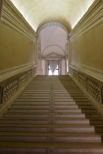 Escalier (XVIe), Scuola Grande di San Rocco, sestiere de San Polo, Venise, Vénétie, Italie