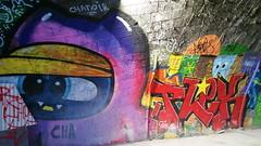 08 - Paris - Février 2019 - Quai de la Gironde au bord du Canal Saint-Denis (paspog) Tags: paris france février february februar 2019 fresque mural murals fresques streetart graffitis tags pont