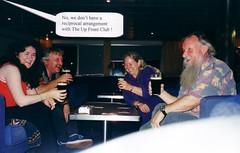 enjoying a Guinness or three ....... (Peculiar Hand) Tags: paullawler richendabridge ireland 2000 ferry vinnylawler upfrontclub bridgetlawler dublin guinness