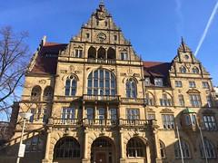 Rathaus of Bielefeld (nickbk15) Tags: sunny day warm weather nice photography sky blue citytrip travel trip germany city bielefeld