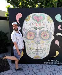 Skull Pose (Toni Kaarttinen) Tags: usa unitedstates florida wpb america lakeworth lw palmbeachcounty man guy beard bear selfie hairy scruff skull shorts adidas