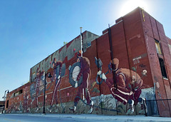 Drum Corps Assembly Line by Pat Perry (wiredforlego) Tags: graffiti mural streetart urbanart aerosolart publicart detroit michigan dtw mitm easternmarket patperry
