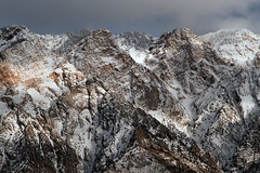 Crags (arbyreed) Tags: arbyreed snow wasatchrange cachecountyutah winter cold light sun