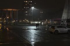 . (Le Cercle Rouge) Tags: paris france night nuit rain pluie darkness obscurité light lumière ville city human humain shadow ombre silhouette placedesfêtes 75019 solitude structure urbain urban nocturne