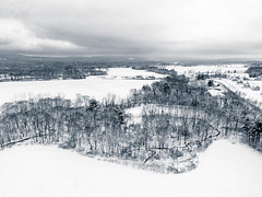 President's Day snow (Thomas F Lynch) Tags: winter snow fields connecticut rural clouds trees mountains aerial drone uas uav bw