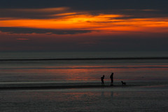 Playing Fetch @ Sunset (mliebenberg) Tags: sunset lythamstannes markliebenbergphotography fatherson fetch sunsets moodyclouds