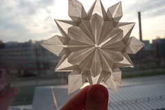 Snowflake (Willow.D) Tags: origami backlit snowflake