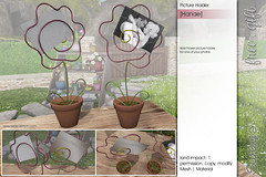 Sway's [Hanae] Wire Flower picture holder | TLC (Sway Dench / Sway's) Tags: sways flower spring tlc sl vr virtual 3d gift free picture photo