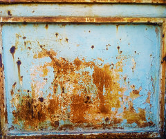 Changes over time (Argyro Poursanidou) Tags: rust metal blue orange old decay abstract lines