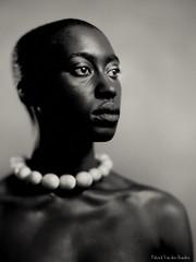 Ma Yi with necklace (patrickvandenbranden) Tags: 20x25 8x10 alternativeprocess bw blackandwhite darkroom fineart hermagis13inch monochrome noiretblanc papernegative portrait procédéalternatif african