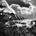 A Snowcapped Mountainside (Black & White, North Cascades National Park) thumbnail