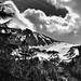 A Snowcapped Mountainside (Black & White, North Cascades National Park)