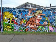 L'UNIVERS DE FRANQUIN (marsupilami92) Tags: frankreich france îledefrance hautsdeseine 92 gennevilliers murpeint fresque streetart franquin
