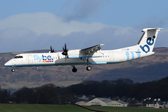 G-FLBB Flybe De Havilland Canada Dash 8-Q400 at Glasgow International Airport 23 March 2019 (Zone 49 Photography) Tags: aircraft airliner airlines airport aviation plane march 2019 gla egpf glasgow abbotsinch international scotland be bee flybe de havilland canada dhc dash8 q400 gflbb