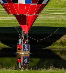 Taking a Dip (pygarian_nox) Tags: balloon river dip chatsworth derbyshire derwent grass