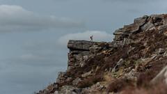 Walker at Curbar Edge (Albe_outdoors) Tags: walk landscape peakdistrict curbar outdoors nikon spring