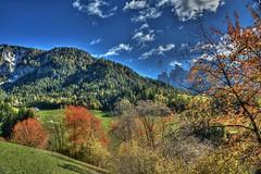 Val di Funes (giannipiras555) Tags: dolomiti landscape natura autunno montagna alberi nuvole cielo panorama paesaggio