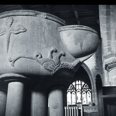 Norman Font, All Saints, Youlgreave, Derbyshire (Newcastle Antiquaries) Tags: church youlgreave derbyshire font youlgrave norman