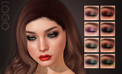 LOGO Enhanced Smokey Eyeshadow Pack 1 (getLOGOed) Tags: logo jolie makeup enhanced highresolution highres eyeshadow secondlife