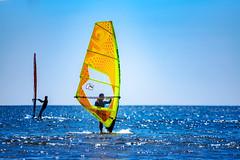 Windsurfer at The east beach of Enoshima : 江の島東浜にて (Dakiny) Tags: 2019 spring april japan kanagawa fujisawa katasekaigan enoshima city street people sport surfing sea sky