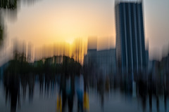 sunset (ChrisRSouthland (mostly off, traveling & working)) Tags: longexposure blurred blur color sunset urban sigmaart50mmf14 nikond850 intentionalcameramovement icm tokyo japan