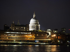 St Paul's Cathedral from Southbank, London [1527] (my.travels) Tags: london england gb greatbritain unitedkingdom night nightphotography stpaul cathedral penf olympus postcard travel
