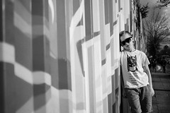 Stadtkind (NEVEZ P★) Tags: nevezphotography 30mm sigma art sony a6000 model dof berlin germany portrait fineart childhood bokeh street light contrast autumn fall people sunglasses film kindheit stadtkind blackandwhite bnw bw sw focus rayban hair
