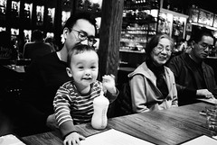 Uncle and Grand Aunt (ekonon) Tags: pushedonestop monochrome olympusxa2 1 blackandwhite film filmphotography