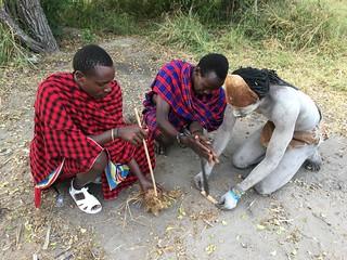 Bushman in Africa Safari Selous