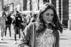 If I Close My Eyes... (Cycling-Road-Hog) Tags: blackwhite candid canoneos750d citylife colour ef50mmf18stm edinburgh edinburghstreetphotography fashion monochrome niftyfifty people places royalmile scotland street streetphotography streetportrait style urban