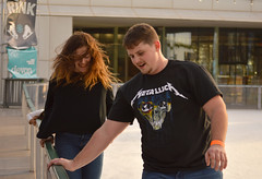 Bringing metal to skating (radargeek) Tags: myriadgardens devonicerink iceskating january 2019 okc oklahomacity downtown metallica tshirt couple