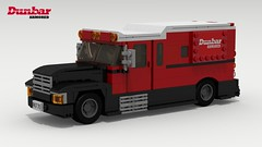 International 4000 Armored Car (LegoGuyTom) Tags: international 4000 armored car cars truck trucks transporter dunbar bank american america classic vintage lego city legocity legos legodigitaldesigner digital designer download dropbox diesel ldd lxf pov povray