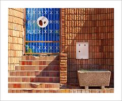 Abandoned (Daniela 59) Tags: wall wednesdaywalls bricks brickwork brickwall steps abandoned blue entrance myhometownwindhoek danielaruppel