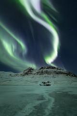 The Dance (sven483) Tags: iceland aurora northern lights kirkjufell kirkjufellfoss grundarfjordur nightscape night astro ice winter