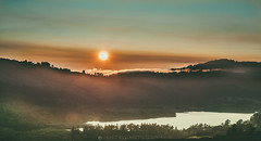 On the way home (Rohit KC Photography) Tags: sunset cropped canon california outdoors nature natural edited warm colors landscape sky sun water lake canon5dmarkii canon24105mmf4l canonphotography dusk foggy fog naturalbeauty