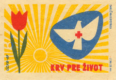 czechoslovakia matchbox label (maraid) Tags: redcross czechoslovakia czechoslovakian czech matchbox label packaging firstaid safety health flower dove tulip sun 1960s 1967